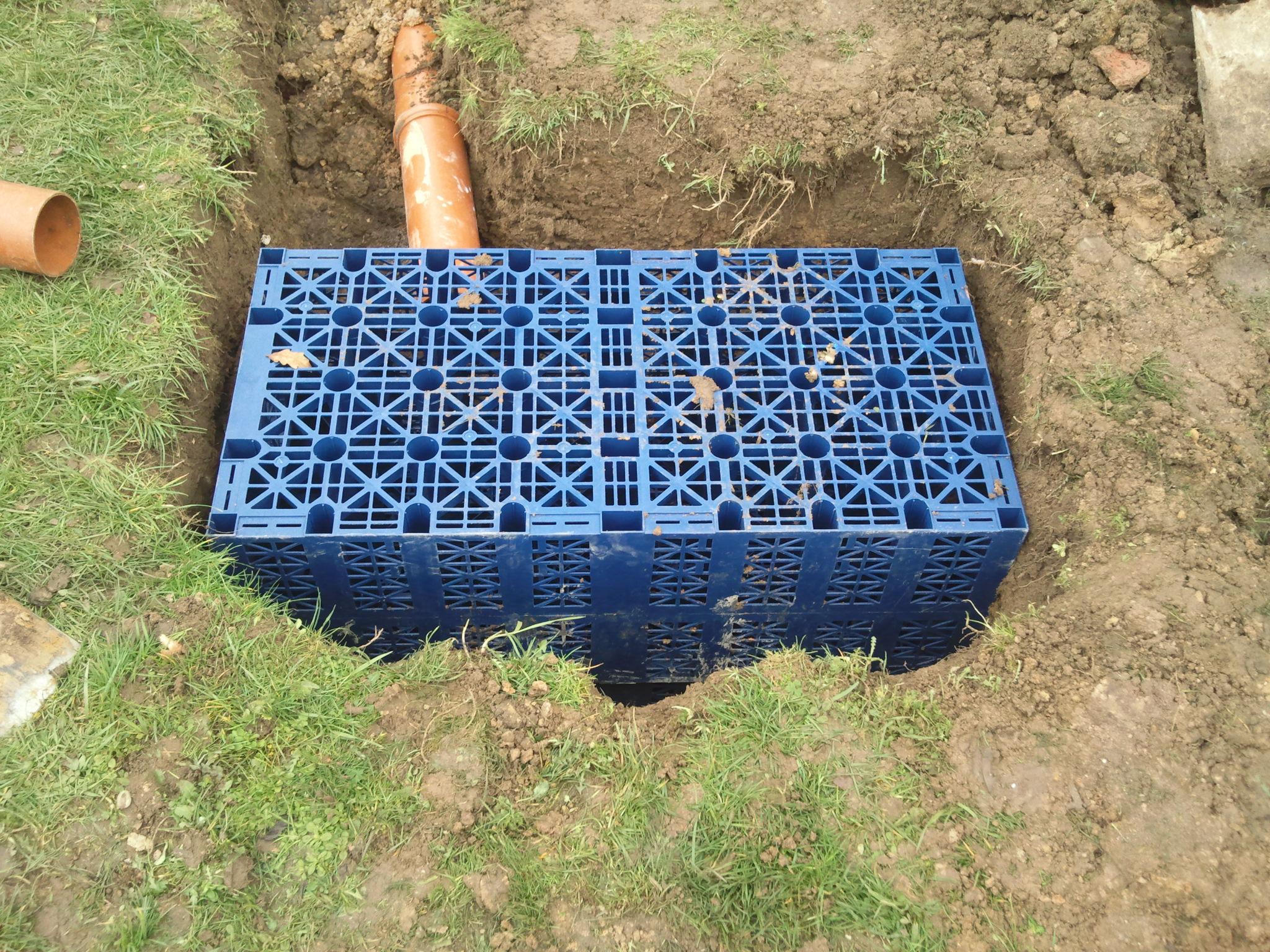 Septic tank drainage fields soakaway sewage system for Rainwater drain problems